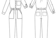 Jumpsuit Patterns with Potential / Jumpsuit with waist seam and sleeves.  With a little pattern work make : jumpsuit, often a blouson, pants, dress, tops with open and closed front, extend tops to tunic and shift dress (maybe larger size for jacket), skirt. Also change hem and sleeve lengths, remove  collar / cuffs / sleeves, change neckline, move / omit / change shape of patch pockets. See https://sewingplums.com/2016/11/12/make-everything-from-one-pattern, for ideas about pattern work.