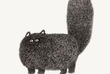 gatti disegni