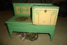 Vintage tin toys for the kitchen!