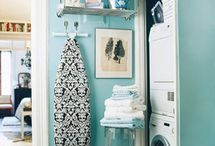 the decluttered laundry room / #declutter #laundry #organize #home #inspiration #clean  / by Bneato Bar