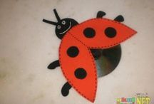 Ladybug craft idea / This page has a lot of free Ladybug craft idea for kids,parents and preschool teachers.