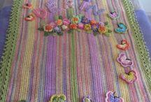 My simple colorful crochet afgans