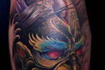 Oni Mask - Tattoo Designs