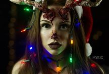 Christmas SFX Makeup Inspiration