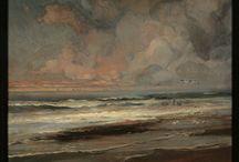 Costa y Mar. / Eliseo Meifrén Roig. Pinturas al óleo del Mar y de la costa.