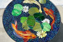 Mosaik und Bleiverglasung