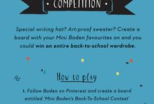 Mini Boden's Back-To-School Contest / by Ashley Boswell