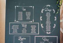 Wedding : Plan de table + panneau