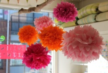 pompoms and honeycomb
