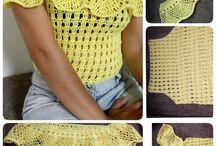 bluza galbena crosetata