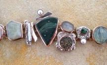 Bracelets Silver & Copper stone by shelly birch