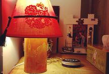 Fancy chinese lamp / Lamp out of a ginger cookie box, tesbih and chinese paper figures