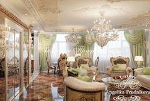 Дизайн Интерьера квартиры в стиле Золотая Классика / Современный дизайн-проект, выполненный в направлении «золотая классика». Каждая комната содержит в себе лучшие традиции этого стиля. Интерьер комнат иллюстрирует классические дизайнерские решения, которые обогащают пространство. Четкие линии и старинный орнамент делают квартиру завершённой и аутентичной.