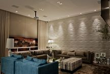 Cement Panels / This is a collecton of cement wall panels. There is a variety of design and colors available.