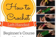 Lefthanded crochet