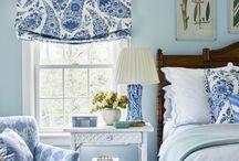 Dormitorio matrimonio paredes azules