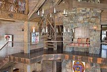 Log homes and Rustic Decor / A mixture of log homes and beautiful rustic decor. / by Peggy Zmrhal