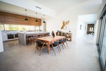 Open plan kitchen living new house