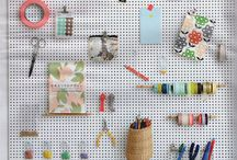 Peg board displays