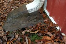 Splash Block / Splash blocks save the ground directly below the downspout exit from getting dug out when the rain water comes out