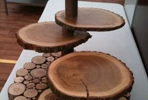 wooden cluster table