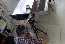 Prueba de microscopio electrónico. / Trabajos en el Instituto Gómez-Moreno I: Probando el microscopio electrónico.