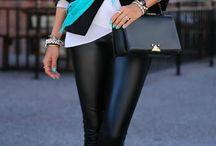 Pantalones Negros / Jeans de cuero