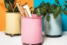 Planters / Indoor and outdoor planters that add a splash of colour to client schemes. Offering all sorts of uses and not just for plants.