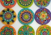 painted coasters