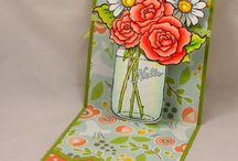 Build A Bouquet Creations / Creations using the Stampendous Build a Bouquet Stamps and Coordinating Build a Bouquet Die Set.