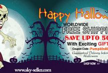"""Sky-Seller Halloween Sale / Sky-Seller offers upto 50% Off with Worldwide free shipping and free exciting gifts with every order till 31st October. Coupon Code : """"Pumpkin50"""""""