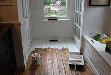 FLOORS-raw & painted