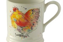Chicken Collection / Our Chicken collection features Greeting Cards, Gifts and Homeware, including Jugs, Mugs, Tea Towels, Coasters and Egg Cups. Images taken from original watercolour paintings. Made in England and sent with love from our home to yours.