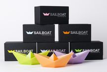 Floating candle Sailboat / Floating candle in shape of paper boat