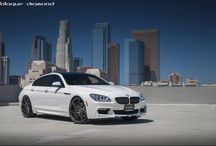 BMW 650i with 22 Inch Rims / 2014 BMW 650i Fitted With 22 Inch BD-1's in Machine Graphite  www.laquediamondwheels.com