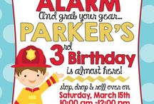 Fire Truck Party Ideas / Fire Truck Party, food, ideas, games, cupcakes, cake, backdrop, invitations, decorations, favor, centerpieces, printables, diy, table, fireman, products, etsy, baby shower, firefighters, firemen, fireman Sam, fun, water bottles
