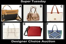 Super Tuesday Designer Choice Auction Aug 26 / Designer Fashion Handbags up for auction at OneCentChic at 10 PM tonight