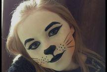 yüz boyama kedi