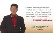 Nutritious Giving / Supporting food and nutrition research, education and scholarships for students are goals of the Academy of Nutrition and Dietetics Foundation and the Texas Academy of Nutrition and Dietetics Foundation.
