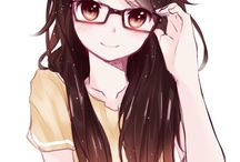 anime art kacamata pentung