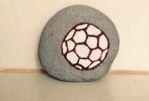 Sport#minge#fotbal#painted stones