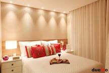 Gesso e iluminação quartos