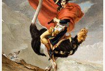 Ostrich History / Photo manipulation sur Photoshop mettant en scène une (des) autruche(s), a l'intérieur de tableau de grand peintre.