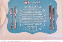 placemat menu design