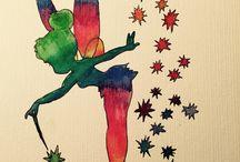 Rainbow Fairy / Rainbow Fairy #aquarell #drawing #tinkerbell  #rainbow