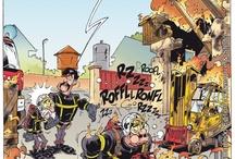 Pompiers / Les pompiers en BD / Firemen the comic book