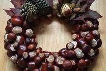 Tvoření z kaštanů, ořechů, šišek, žaludů, listí - Make from chasenuts, nuts, cones, acorns, leaves