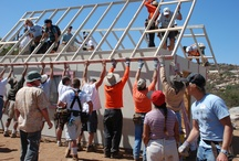 """Construction Program / The Construction Program is the most well-known program of Corazón. Corazón has been building and repairing homes in Mexico through """"Build a House in a Day"""" projects since its beginning in 1978. Thousands of Corazón volunteers have built more than 1,000 homes for the Mexican families."""