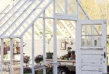 Lusthus/växthus / Fantastiska hus med mycket glas.