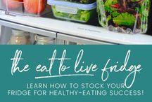 the EAT TO LIVE fridge